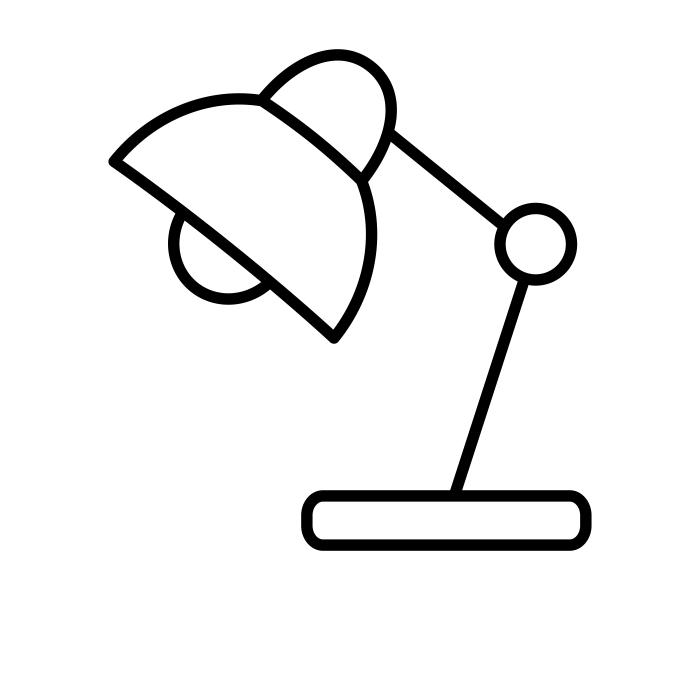 Desk lamp - Copyright The Noun Project - Stock Image Folio